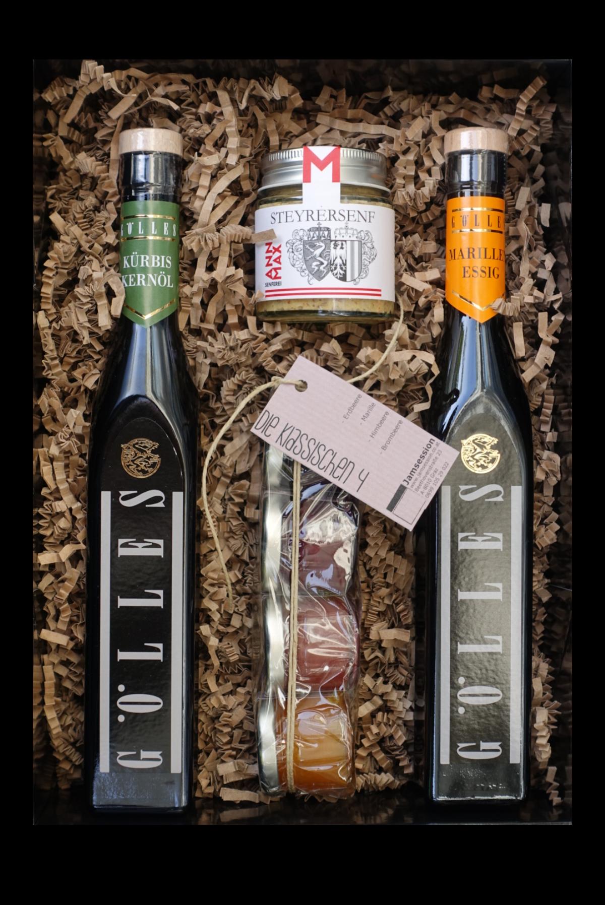 Jawoi Genussbox mit Essig, Senf und Marmeladen